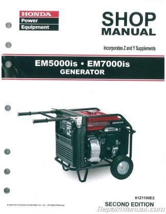 honda em3500x em3500sx em5000x and em5000sxk0 k1 generator shop manual rh repairmanual com honda em3500sx generator service manual honda em3500sx generator service manual