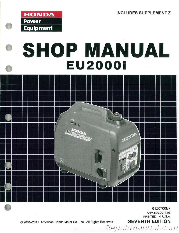 Honda Eu2000i Generator Shop Manual