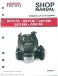 Honda GCV135 GCV160 GCV190 And GSV190 Engine Shop Manual_001