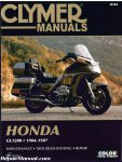 Honda GL1200 Gold Wing Motorcycle Repair Manual 1984-1987 Clymer_001