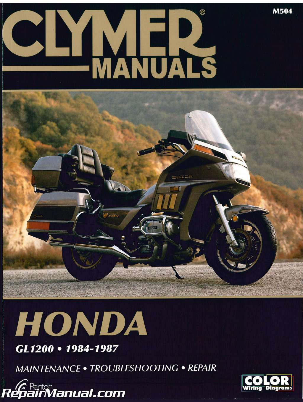 Honda Gl1200 Gold Wing Motorcycle Repair Manual 1984 1987 Clymer Schematic  Honda Goldwing Motorcycle 1984 Goldwing Wiring Diagram