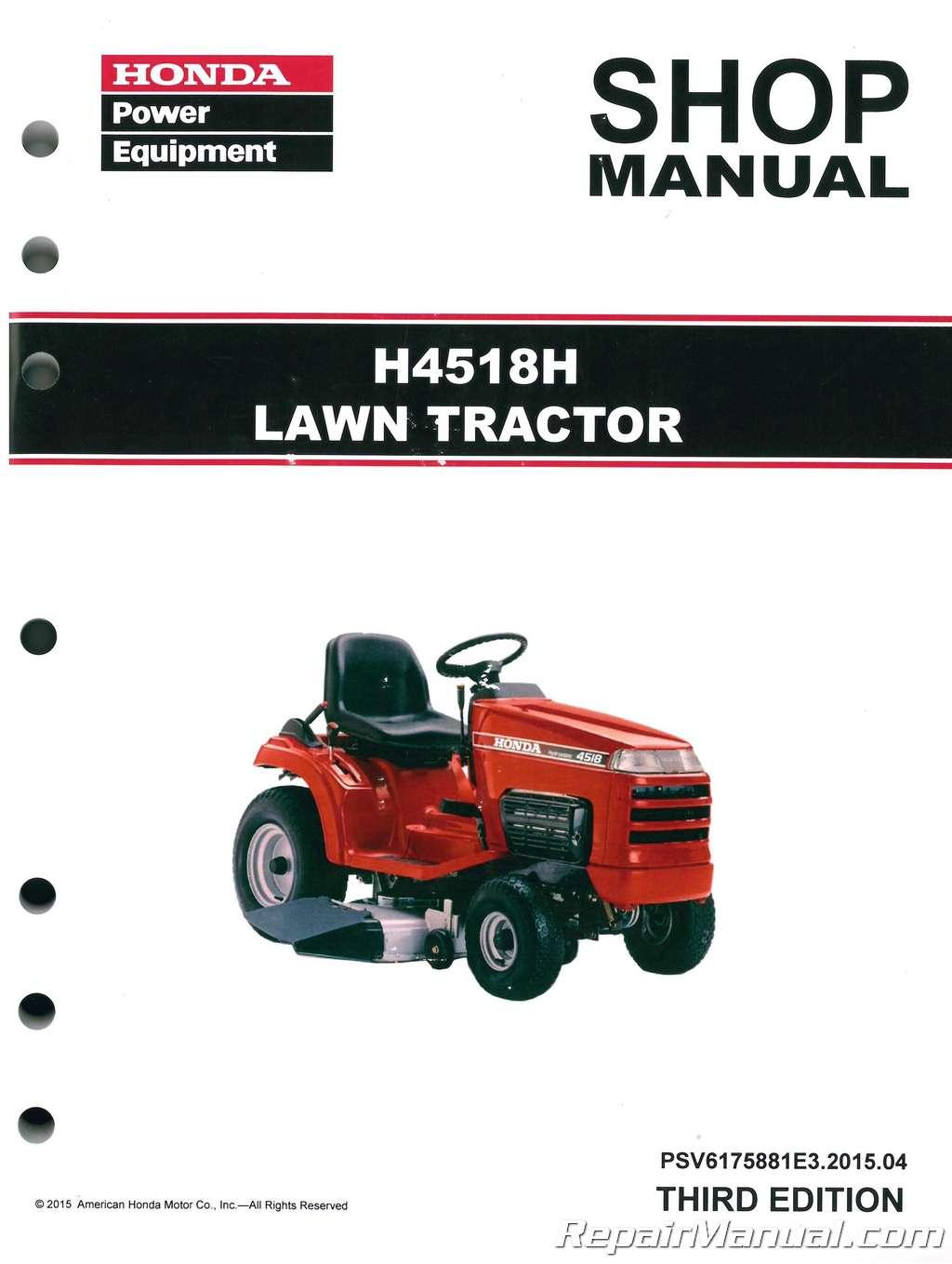 Honda H4518 H4518H Lawn Tractor Shop Manual