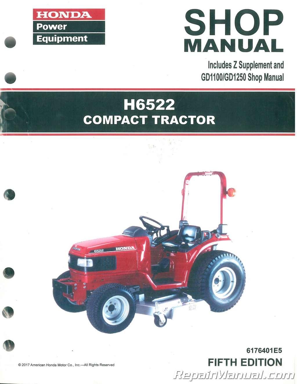 honda h6522 compact tractor shop manual rh repairmanual com Honda HR195 Parts Honda HR194 Specs