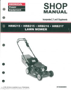 Honda HRB215 HRM215 HRB216 HRB217 Lawn Mower Shop Manual_001