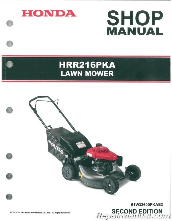 honda hrr216pka k8 k9 lawn mower shop manual  - repair manuals online