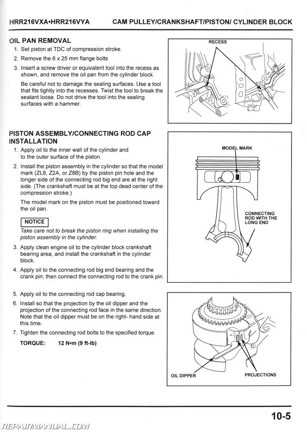 honda hrr216vxa hrr216vya service manual rh repairmanual com honda hrr216vxa repair manual Honda HRR216VXA Clutch Assembly