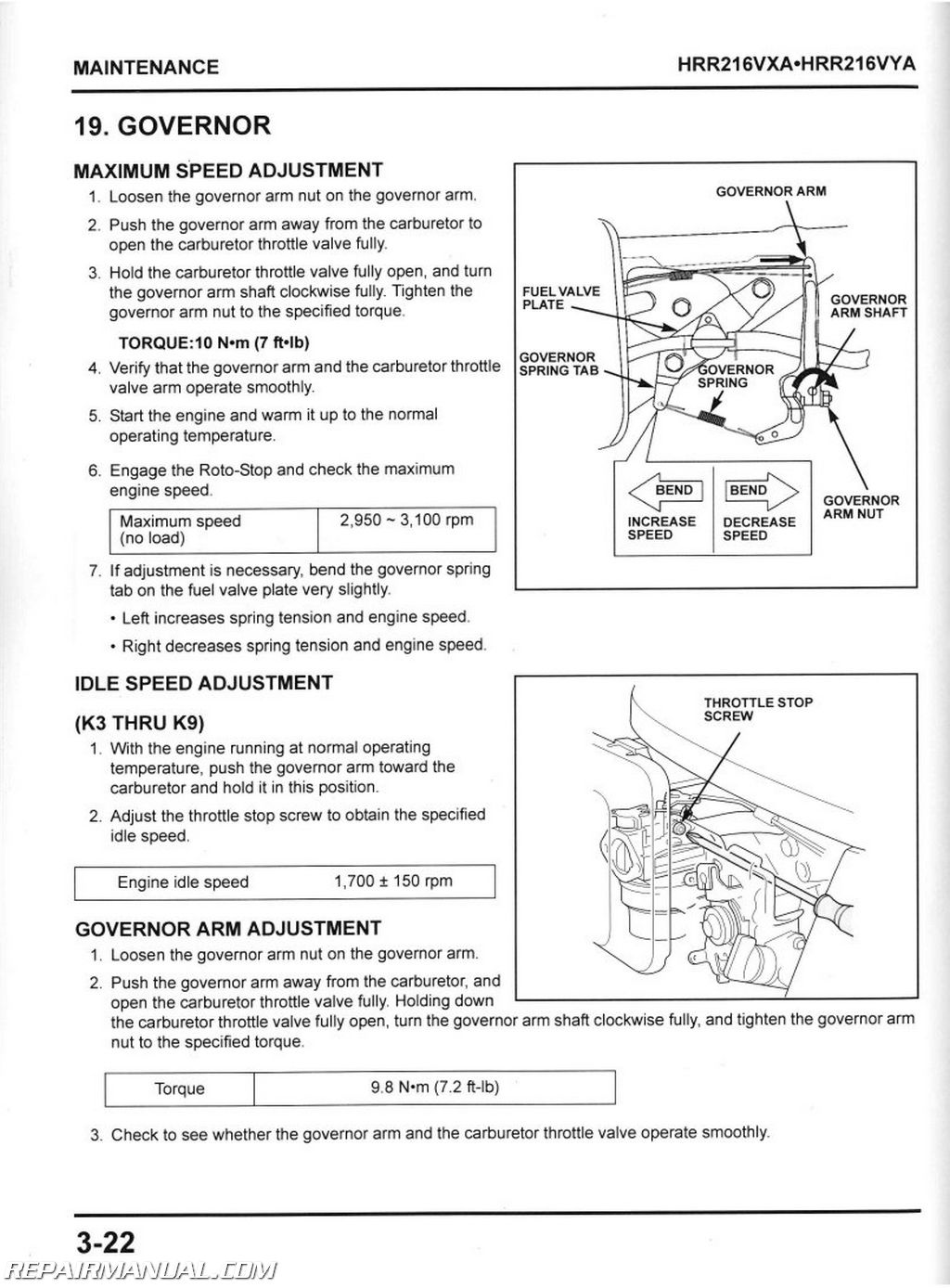 Honda 216 Manual Auto Electrical Wiring Diagram Lawn Mower Usa Lawnmower Carburetor Hxa Hxc And Hrr216vxa Hrr216vya Service 61vg3600vyae3
