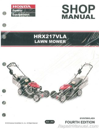 honda hrx217 vla lawn mower repair service shop manual rh repairmanual com Home Depot Reel Lawn Mower Home Depot Reel Lawn Mower