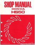 Honda HS50 Snowblower Shop Manual_001