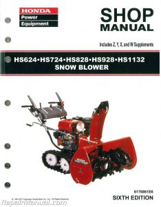 Honda HS624 HS724 HS828 HS928 HS1132 Snowblower Shop Manual_002