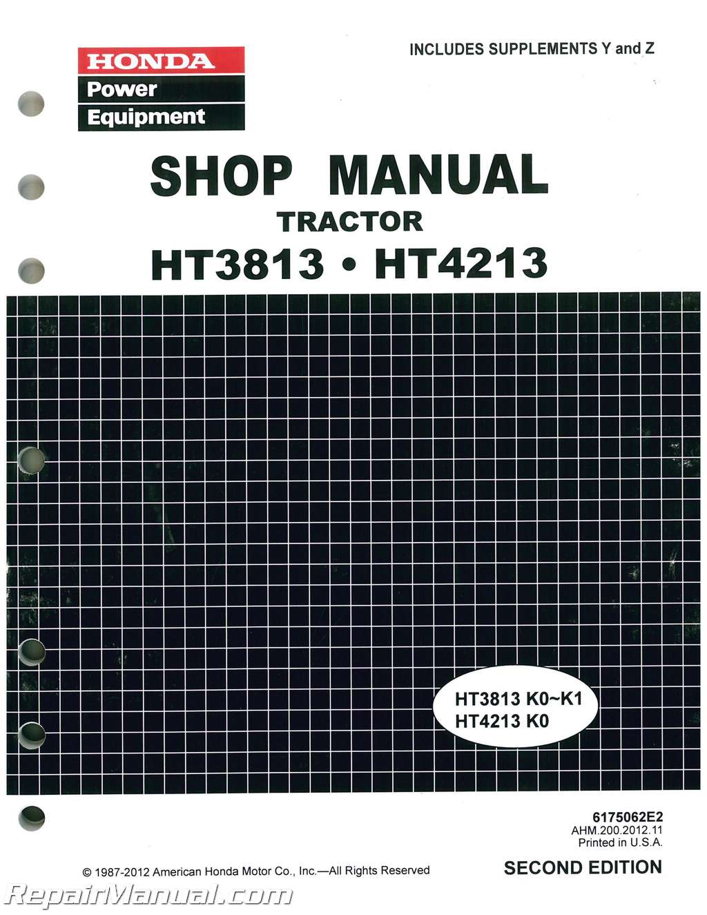 Honda 5518 Wiring Diagram Library Ht3813 Ht4213 Lawn Tractor Shop Manual