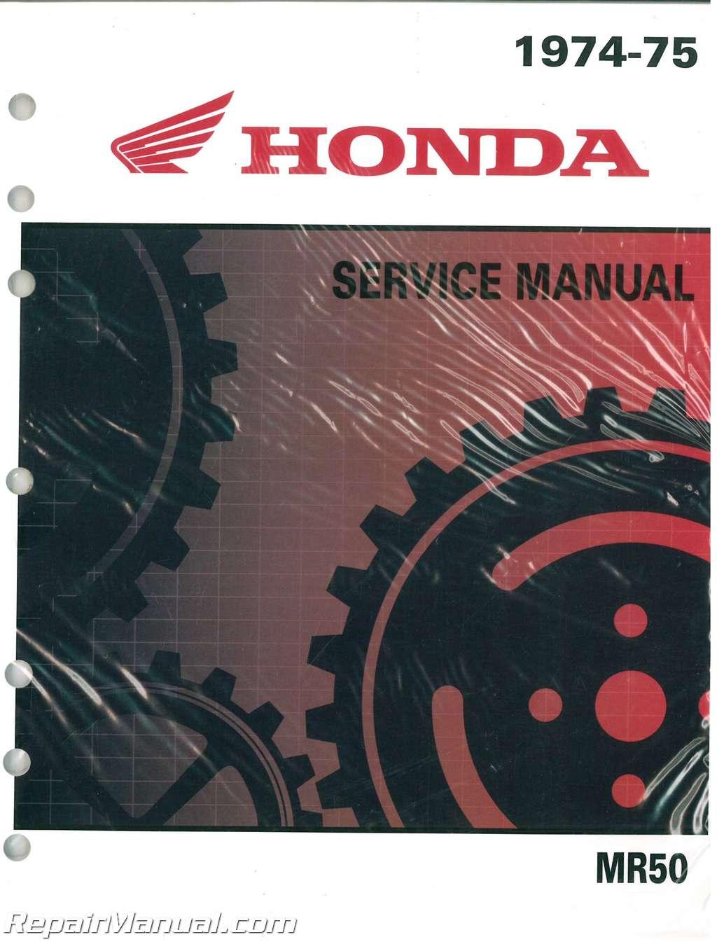 Wiring Diagram Honda Mr50 Z50 Motorcycle Service Manual And Parts 1974 1975 Rh Repairmanual Com Mb50