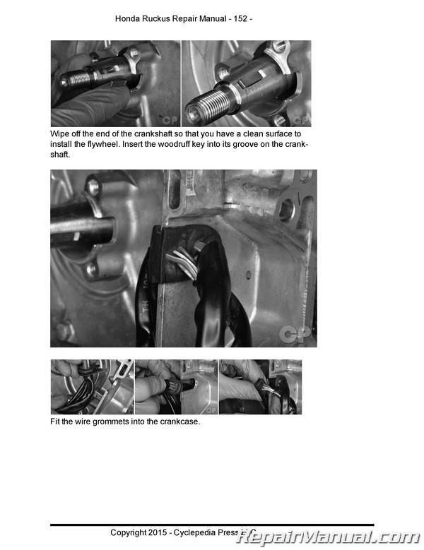 Honda Nps50 Ruckus Cyclepedia Printed Scooter Service Manual