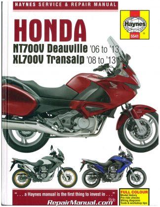Honda 2006-2013 NT700V Deauville & 2008-2013 XL700 Transalp Motorcycle  Repair ManualRepair Manuals Online
