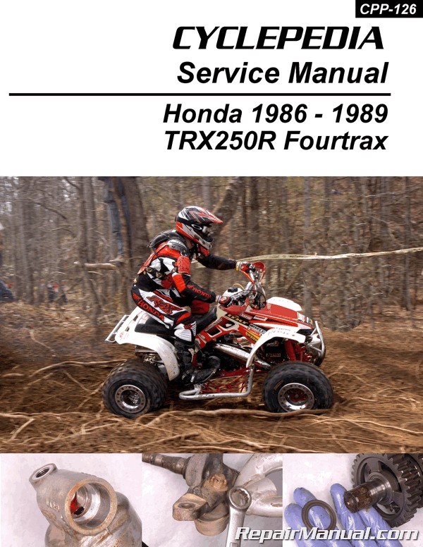 Honda Trx250r Fourtrax Cyclepedia Printed Atv 1986 1989 Service Manual Ebay