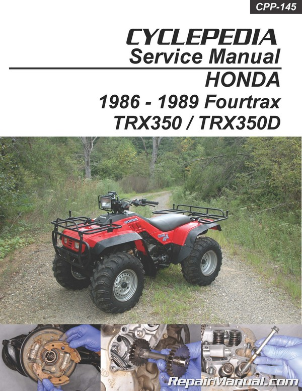 Honda Trx350 Fourtrax Trx350d Foreman Cyclepedia Manual