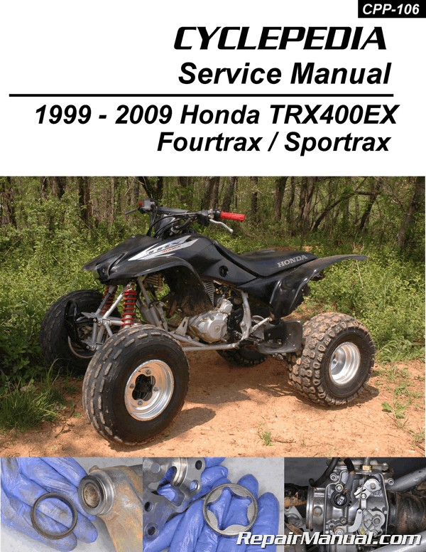 honda trx400ex sportrax cyclepedia printed atv service manual rh repairmanual com 2005 honda 400ex owners manual 2005 honda 400ex service manual pdf