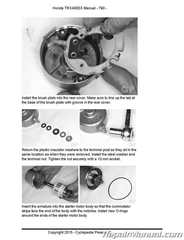honda trx400ex sportrax cyclepedia printed atv service manual rh repairmanual com 2005 honda trx400ex repair manual 2005 honda 400ex owners manual
