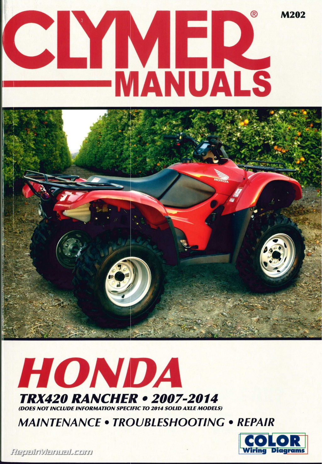 Honda TRX420 Rancher ATV Clymer Service Manual 2007-2014