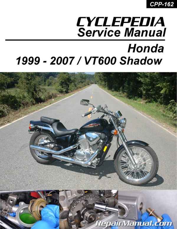 honda vt600 shadow cyclepedia printed motorcycle service manual rh repairmanual com Honda Shadow 600 2012 honda shadow aero 750 owners manual
