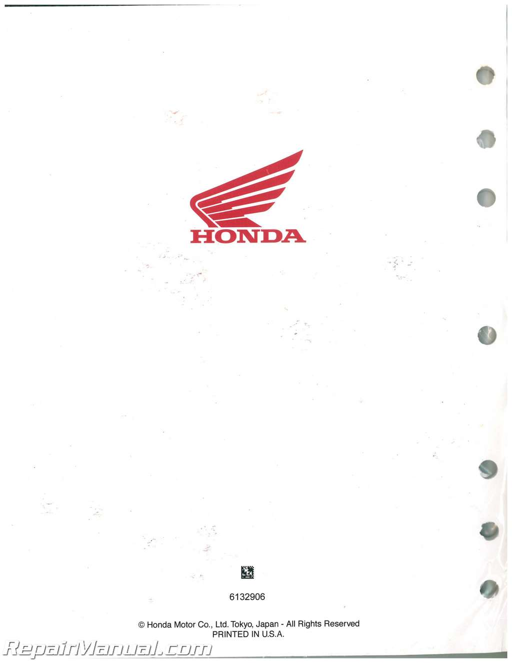 Honda XL250 XL350 Motorcycle Service Manual ...
