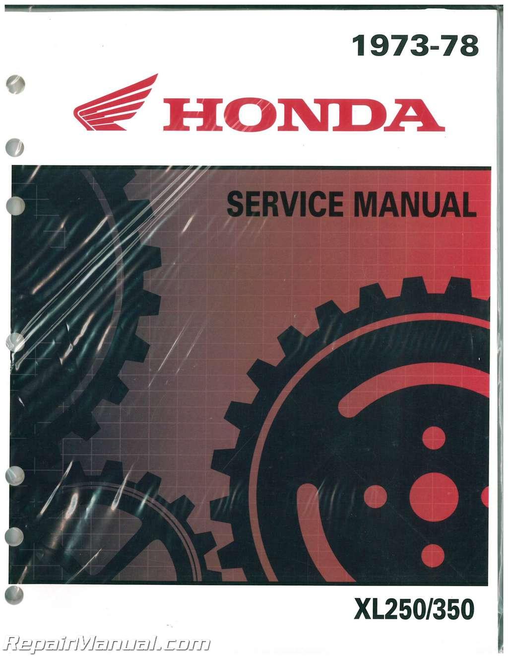 Honda Xl250 Xl350 Motorcycle Service Manual 1972  U2013 1978
