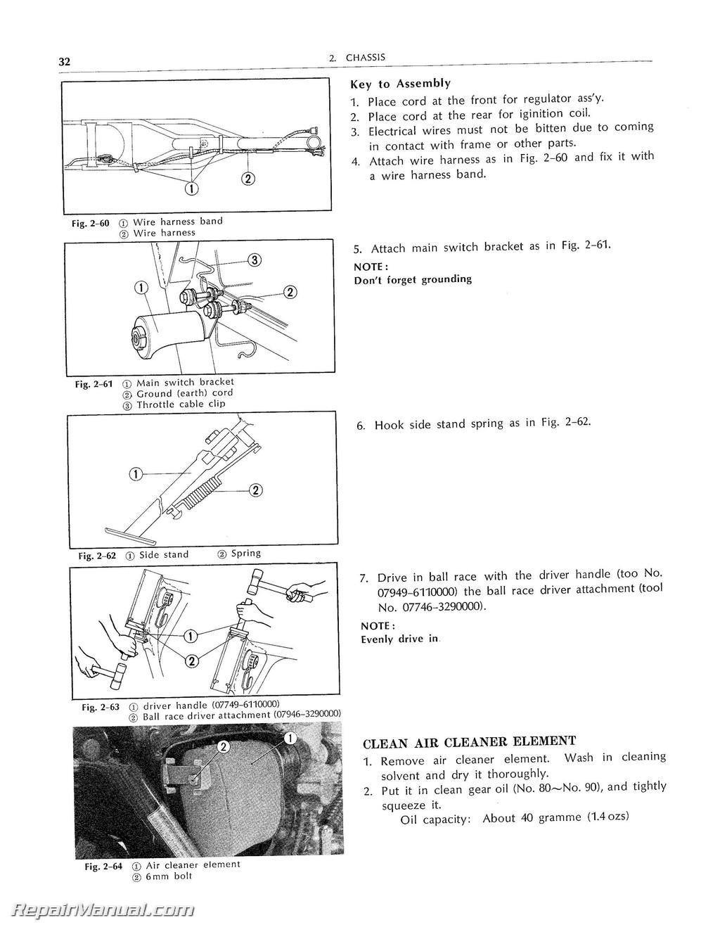 honda xl250 xl350 service manual 1972 1978. Black Bedroom Furniture Sets. Home Design Ideas