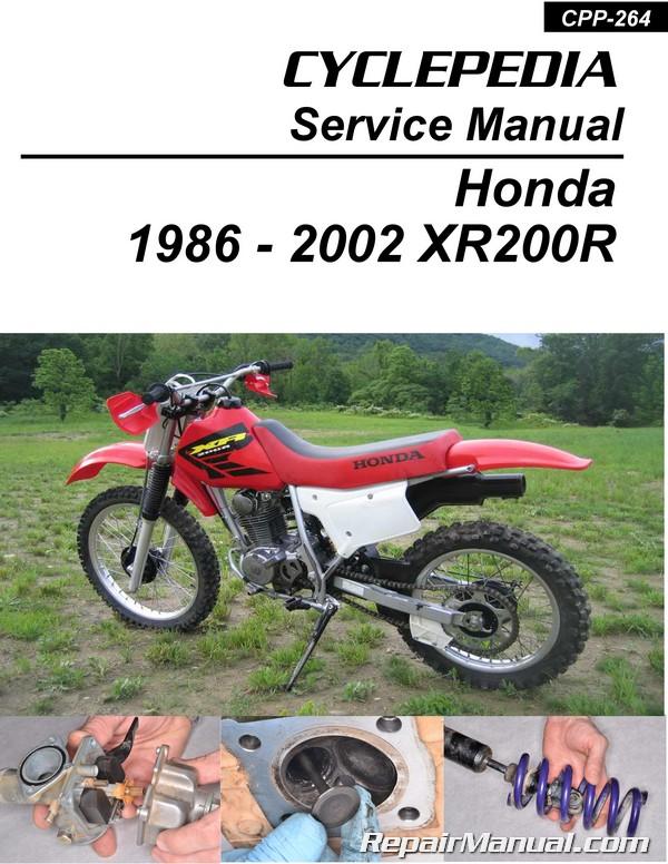 honda xr200 1986 2002 cyclepedia printed motorcycle service manualhonda xr200 1986 \u2013 2002 cyclepedia printed motorcycle service manual