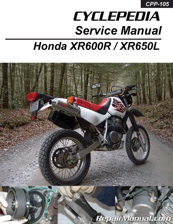 Honda XR600R XR650L Motorcycle Cyclepedia Printed Service Manual on