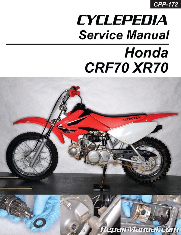 cyclepedia honda xr70 crf70 motorcycle printed service manual rh repairmanual com honda xr70 service manual honda xr70 service manual