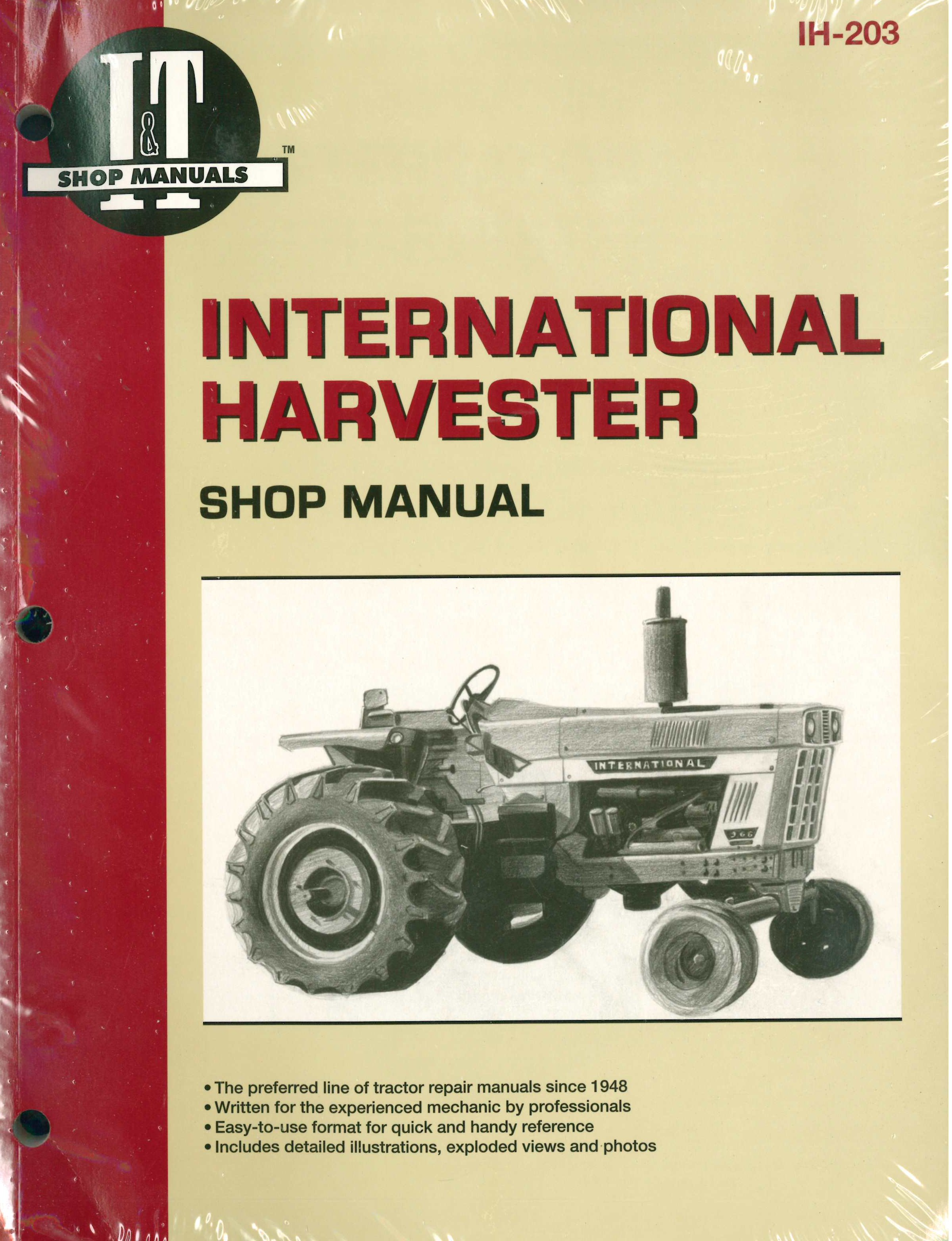 international harvester tractor service manual 454 464 484 574 584 rh repairmanual com 1066 International Tractor Parts Diagram 1086 International Tractor Wiring Diagram