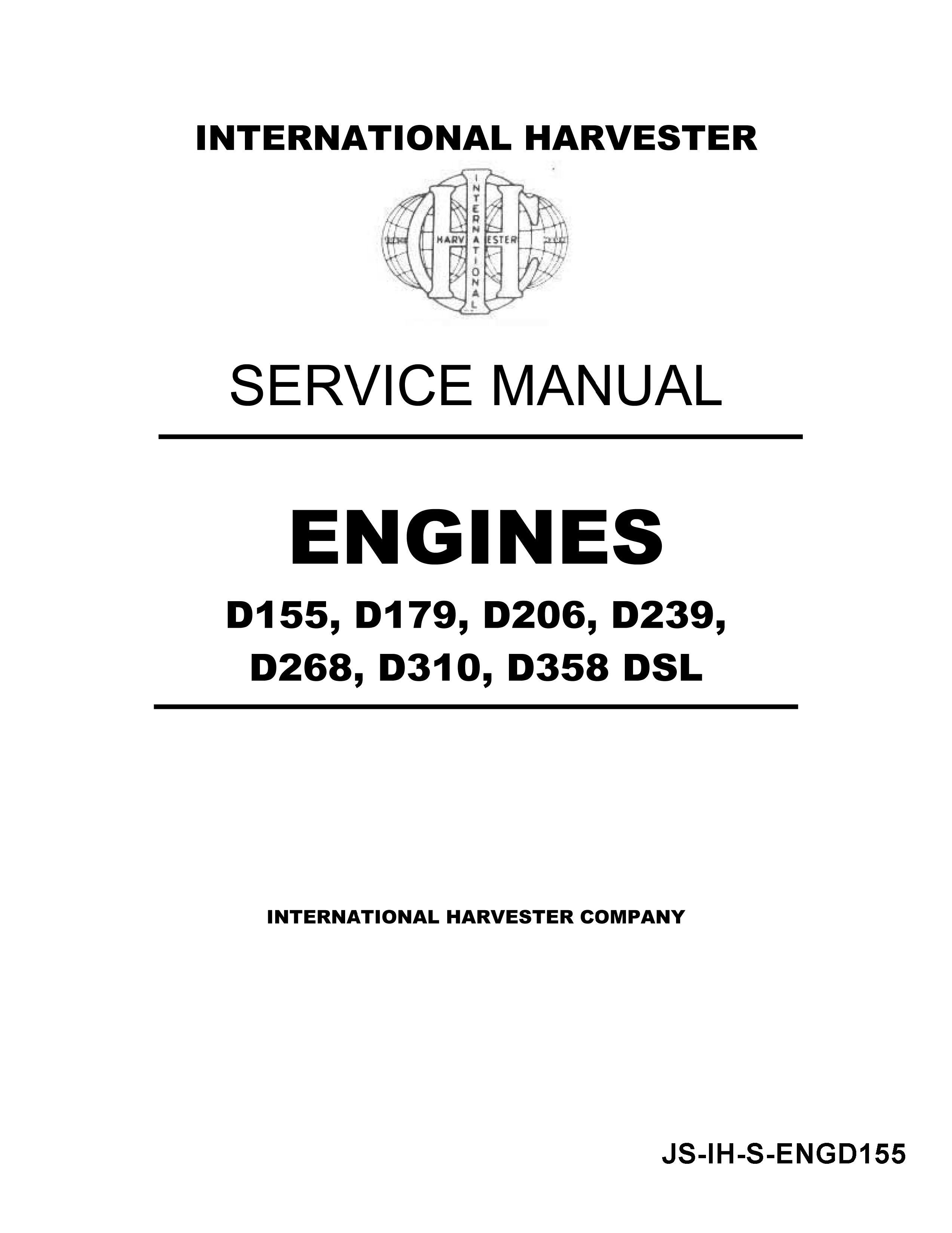 ih diesel engine d155 d179 d206 d239 d268 d310 d358 manual ih diesel engine d155 d179 d206 d239 d268 d310 d358 manual page 1