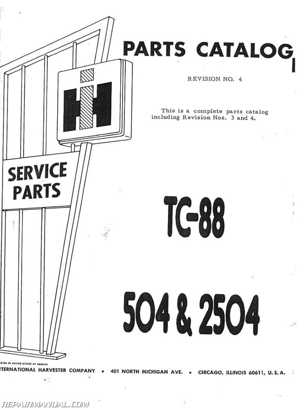 IH P 504 2504 international harvester 504 2504 gas lp and dsl parts manual 800,504 Farmall Gas Wiring Diagram