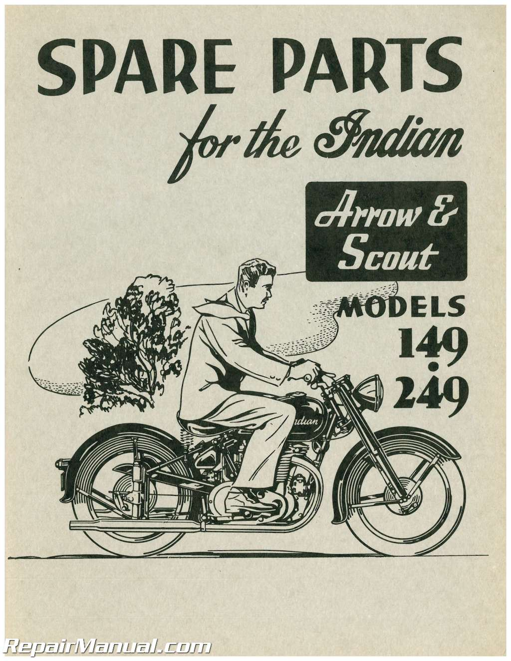 Arrow And Scout 149 249 Indian Motorcycle Parts Manual Ebay