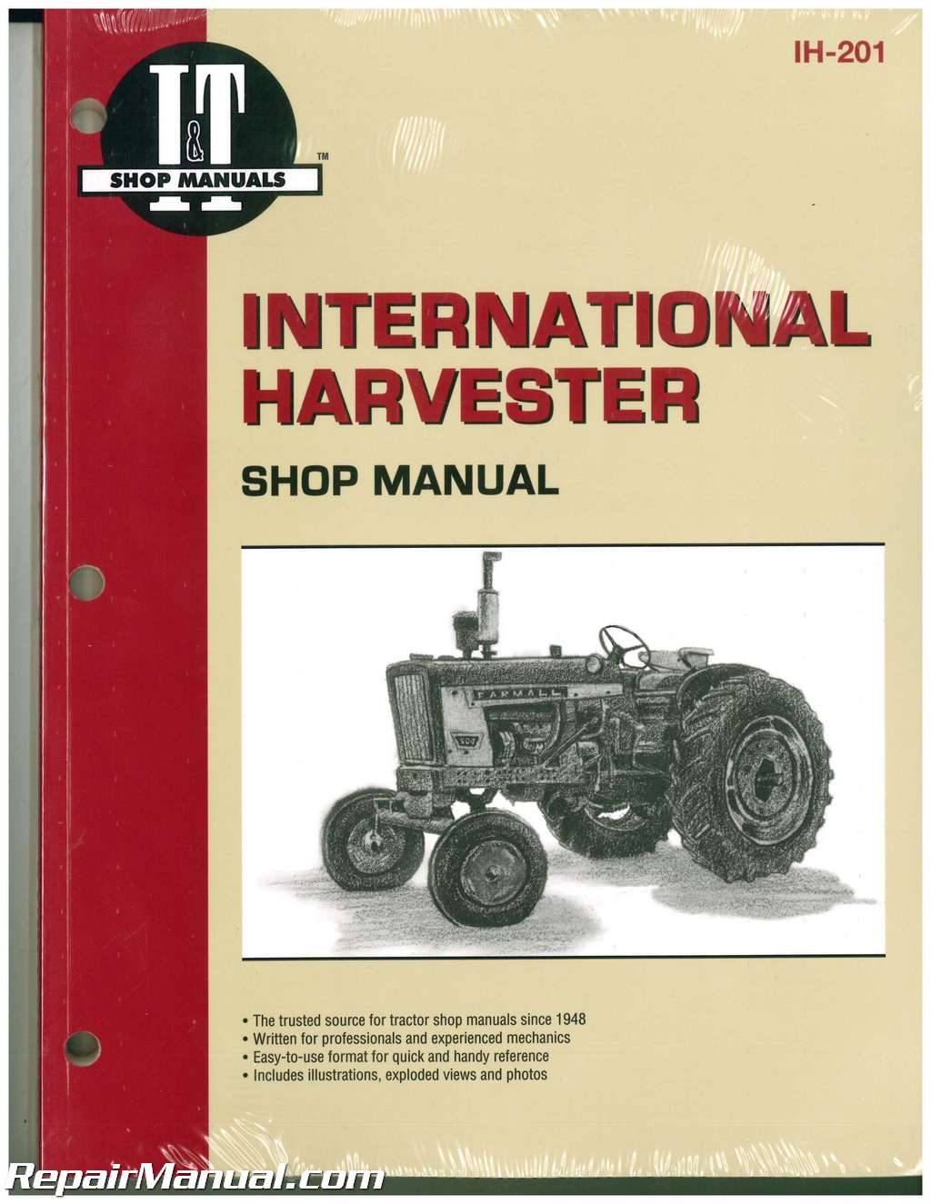 International 384 Tractor Wiring Diagram Diagrams Farm Harvester 100 2504 B 275 414 Service Rh Repairmanual Com 574 Farmall M