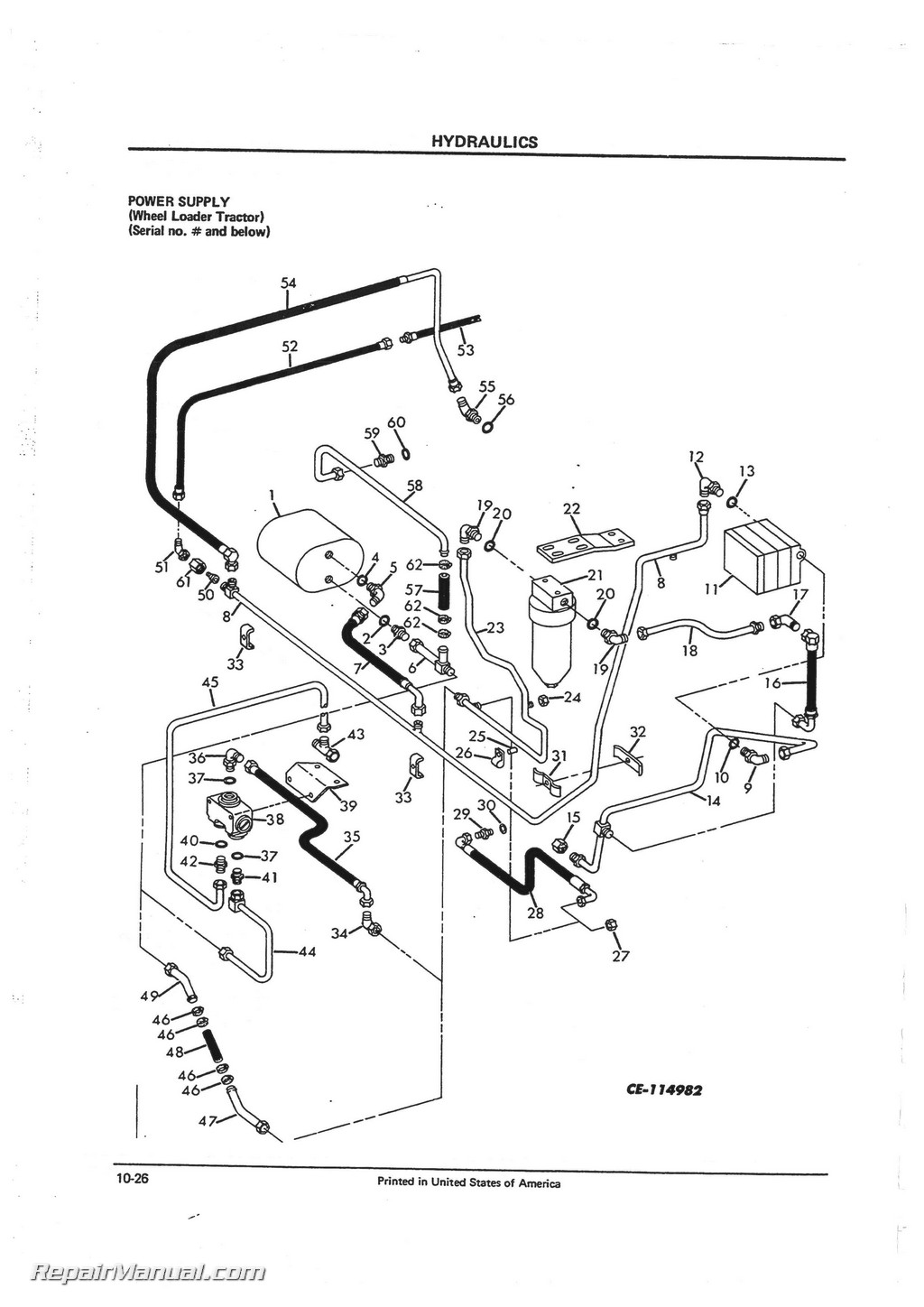 International Harvester 260-A Tractor Loader Backhoe Parts Manual