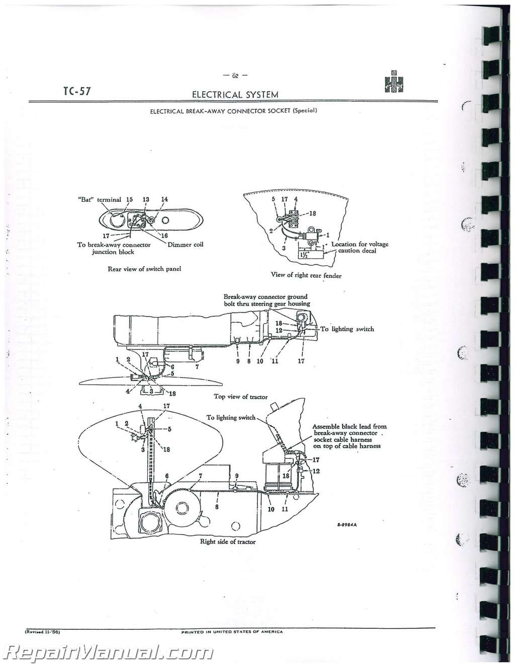 international harvester 300 utility parts manual rh repairmanual com