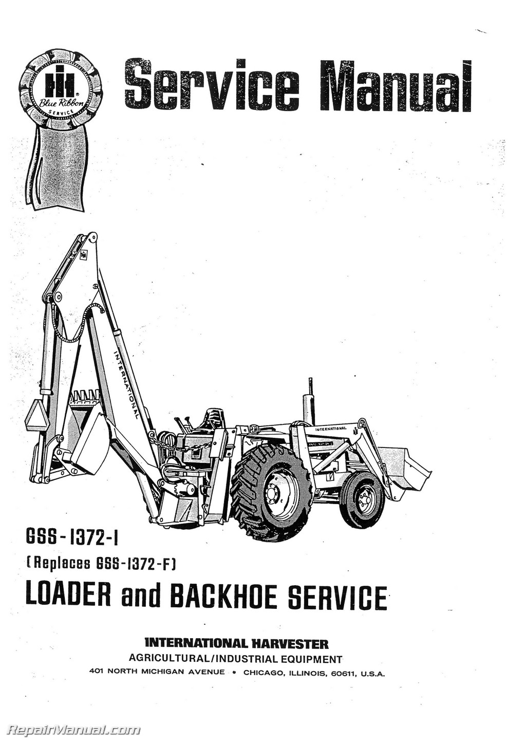 International Harvester 3444 Tractor Loader Backhoe Service Manual Cub Cadet Engine Schematics