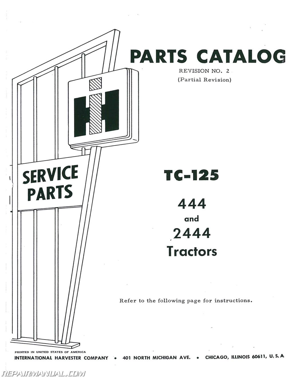 International Harvester 444 Wiring Diagram Real 454 Series Diagrams For 2001 4700 Also T444e Engine Farmall H 12v Super