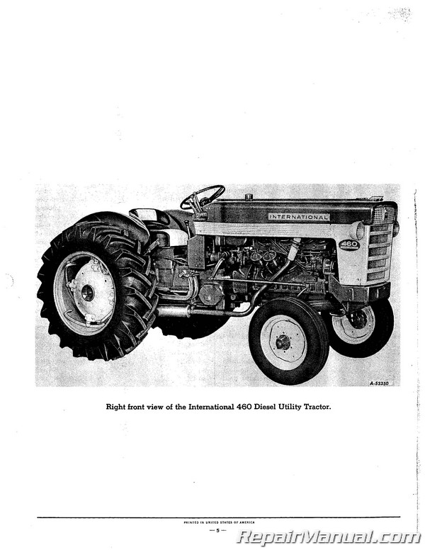 Farmall and International 460 Tractor Parts Manual - Gas Diesel and LP    eBayeBay