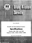 International Harvester 460 and 560 Service Manual