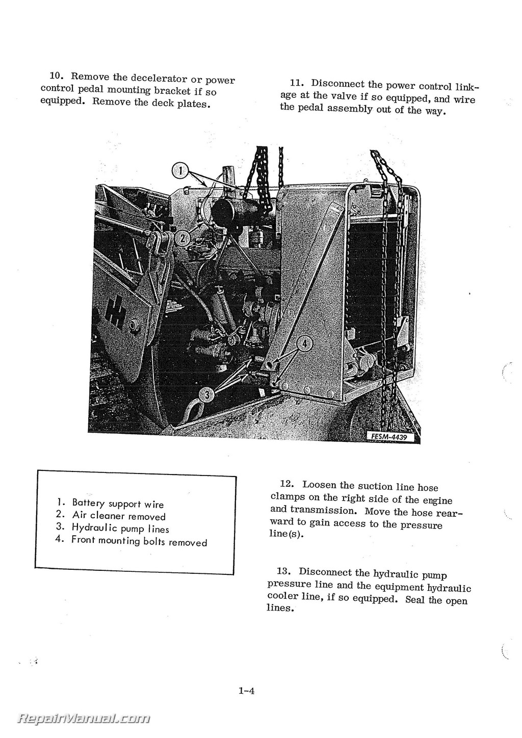 International Harvester 500c Crawler Chassis Service Manual