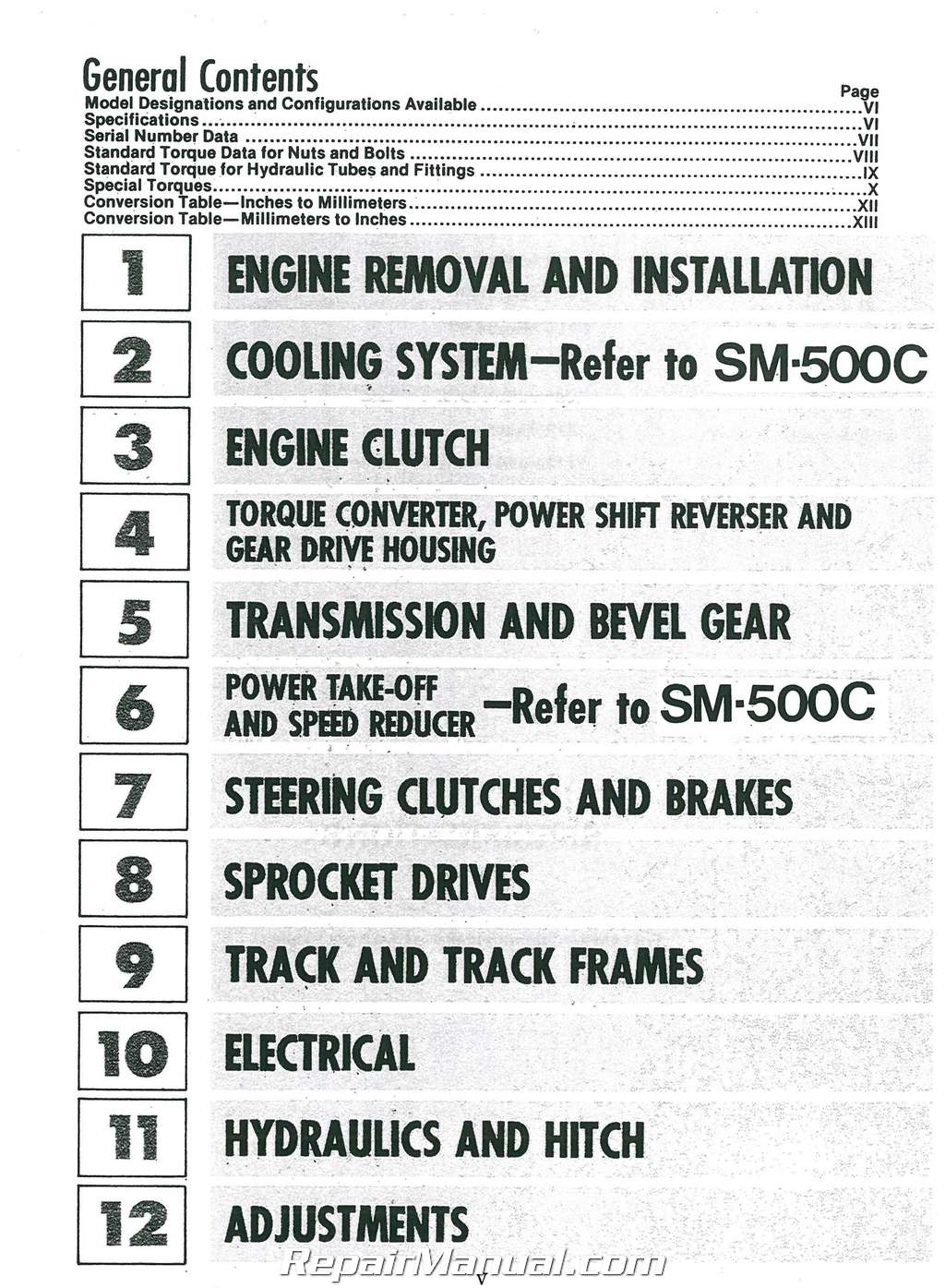 International Harvester 500e Crawler Chassis Service Manual