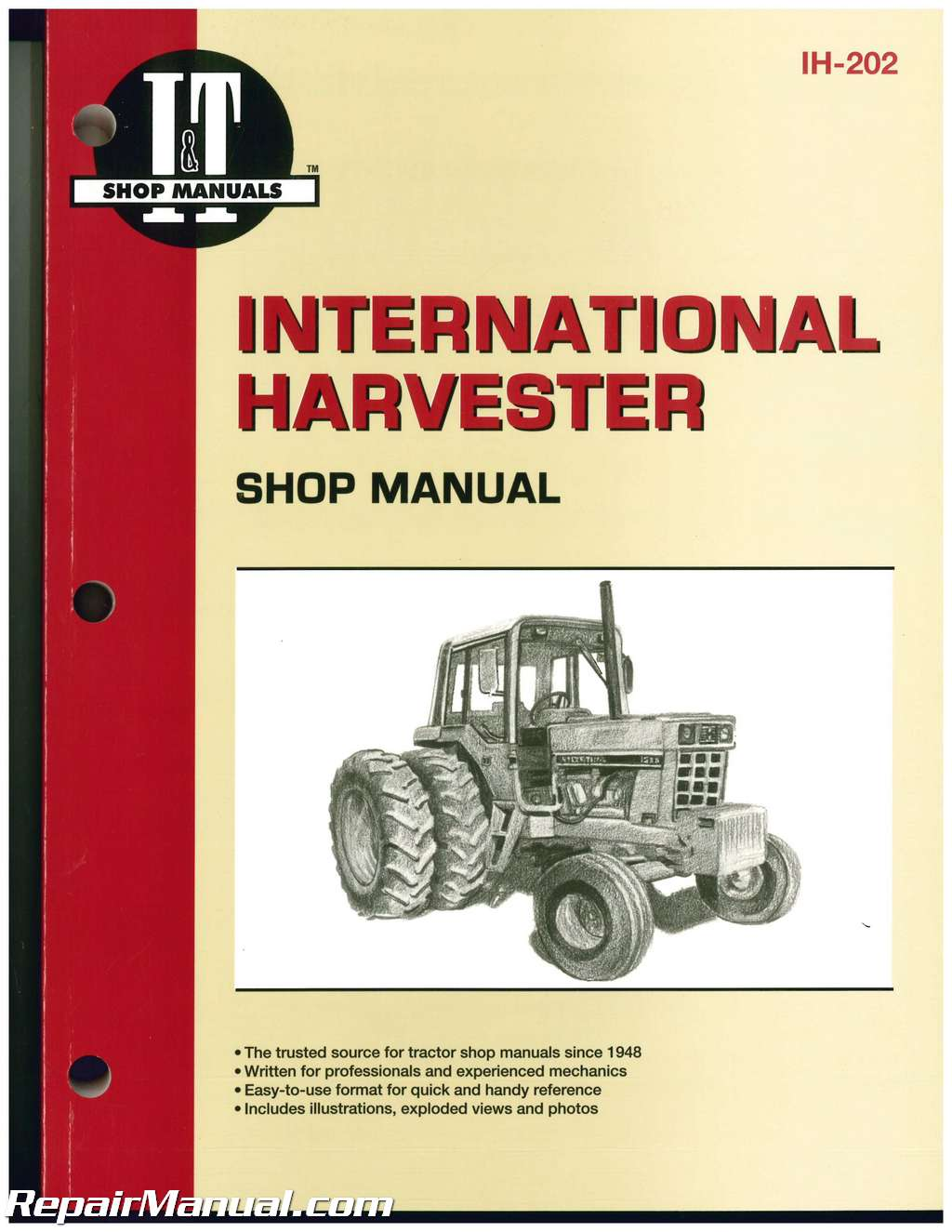 International Harvester Farmall 544 656 666 686 Hydro 70 Hydro 86 Hydro 100  Hydro 186 1466 1468 1486 1566 1568 1586 684 784 884 Hydro 84 Service Manual