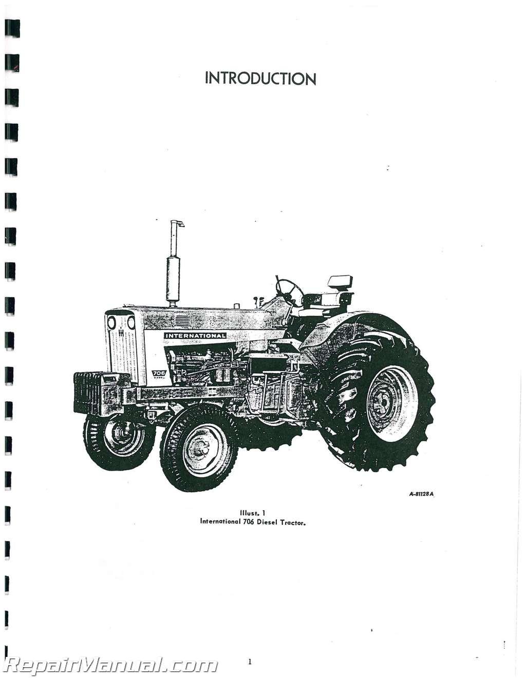 international harvester farmall 706 gas and diesel