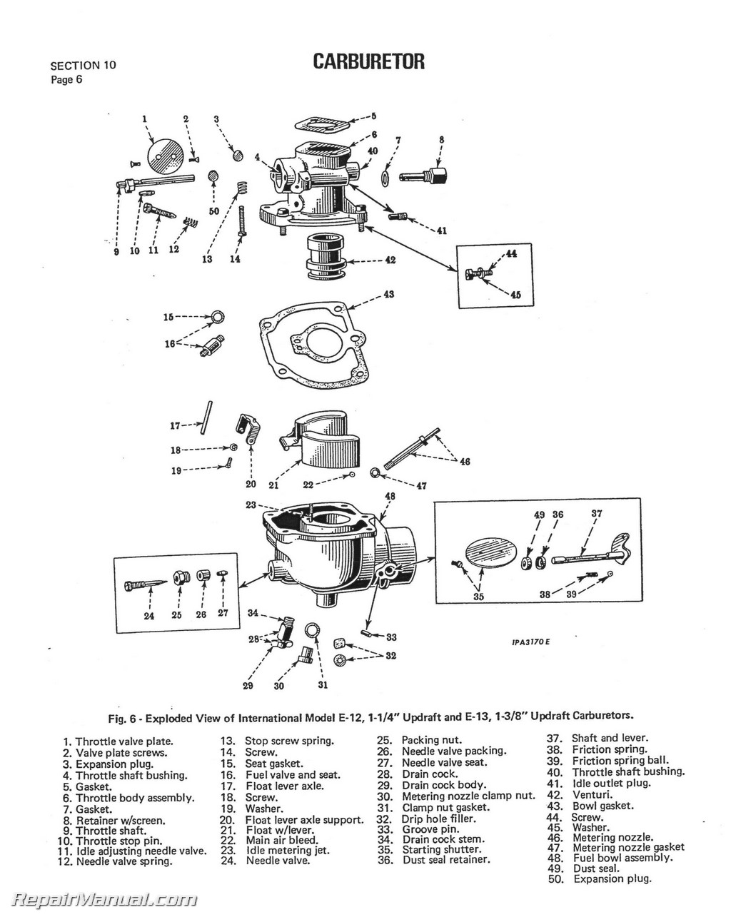 International Harvester Farmall Super C Service Manual Page