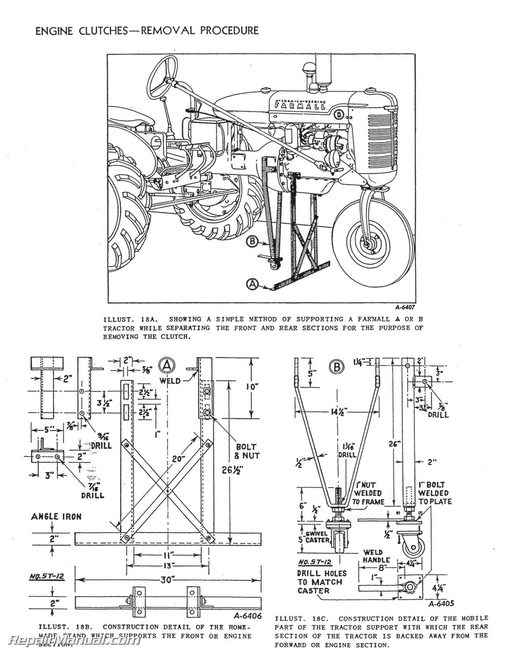 international harvester farmall tractor engine clutch transmission service manual
