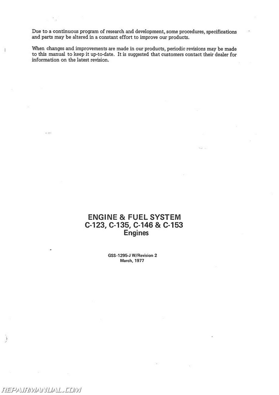 International Harvester T-4 T-5 TD-5 TC-5 TDC-5 Crawler Service Manual