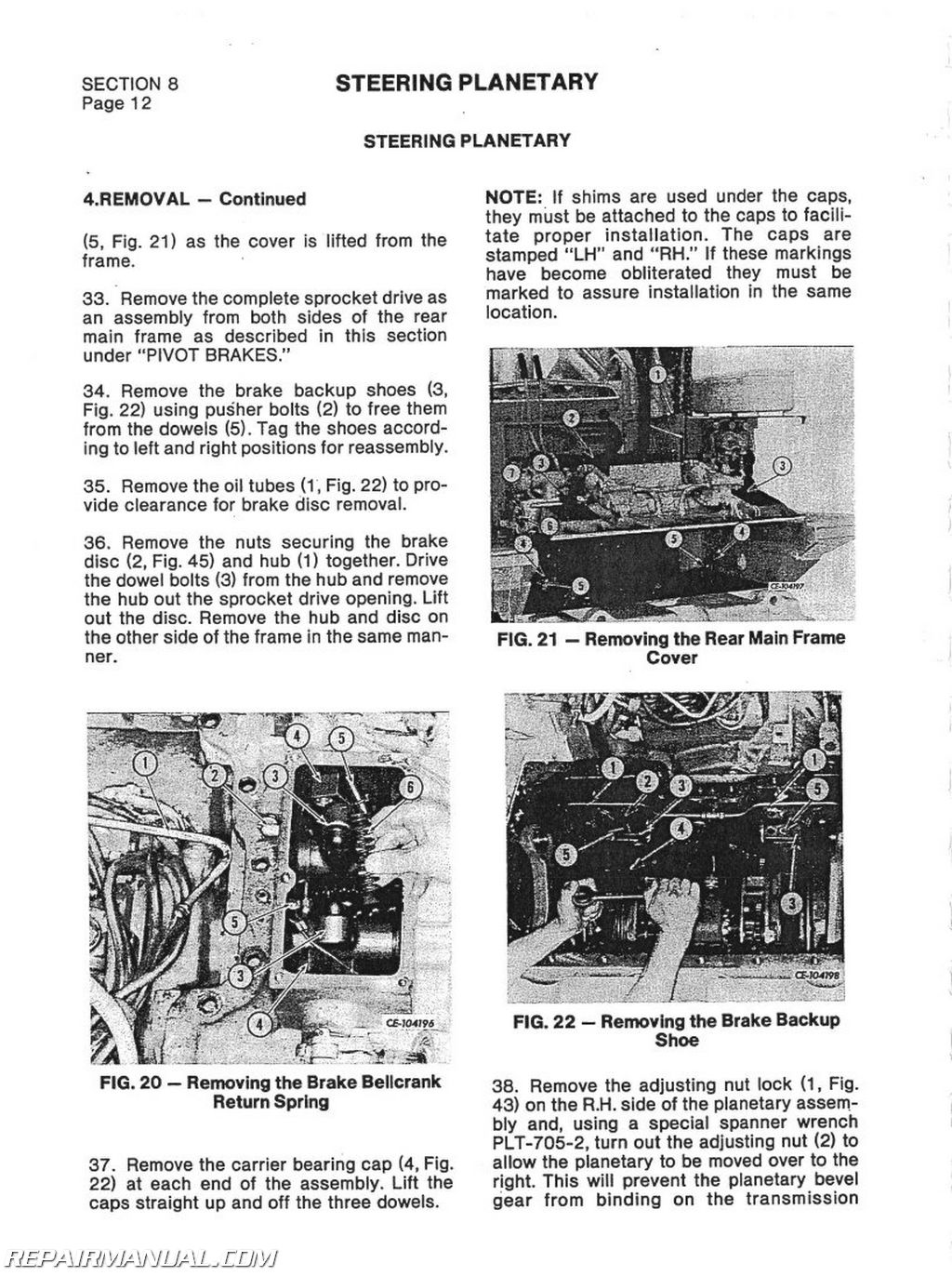 International Harvester TD15C and 175C CHASSIS ONLY Service Manual