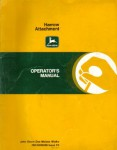 John Deere Harrow Attachment Factory Operators Manual